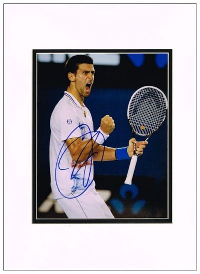 Novak Djokovic Autograph Signed Photo For Sale